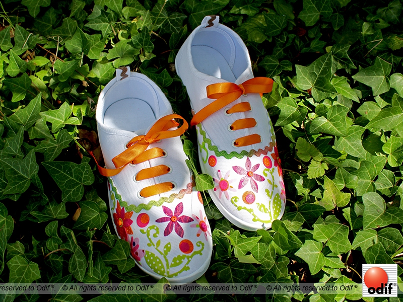 Photo : DIY - Customisation de vos baskets en toile