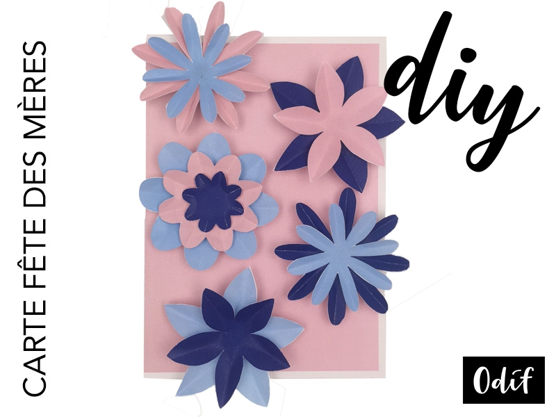 Photo : DIY - Carte florale fête des mères