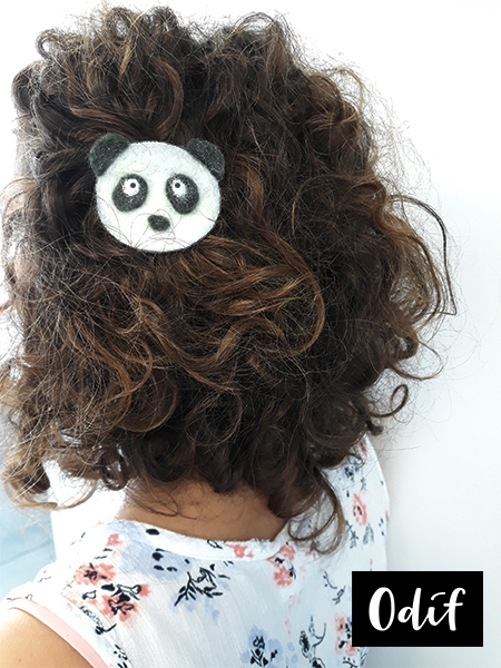 Photo : DIY - Barrette à cheveux panda